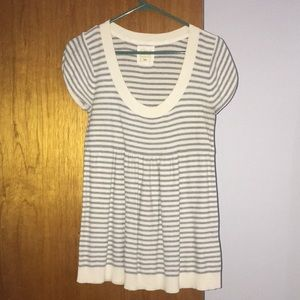 Greg and White Stripped Babydoll Sweater Shirt
